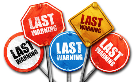 last warning signs