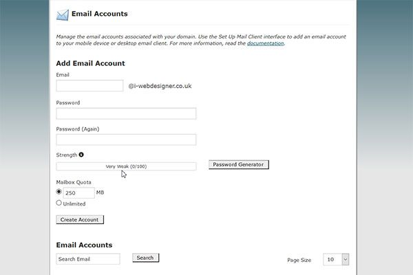 email account boxes