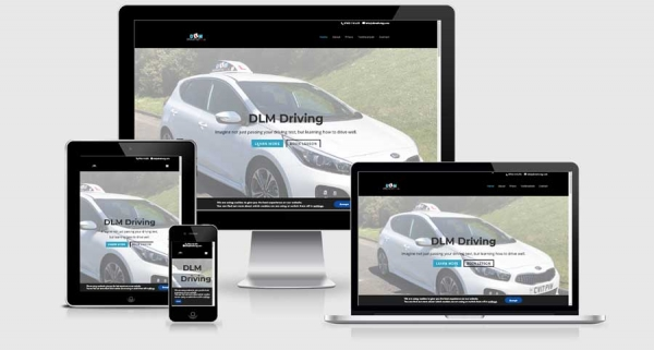 DLM Driving School website composite