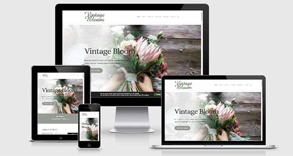 Vintage Bloom website composite